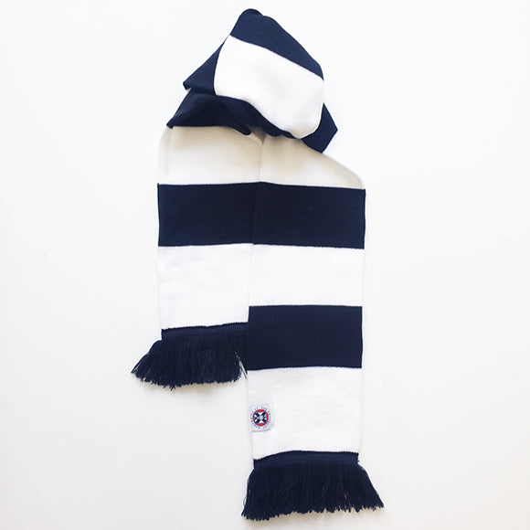 Striped Scarf in Navy/White