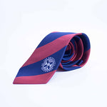 Classic Silk Tie in Red/Navy