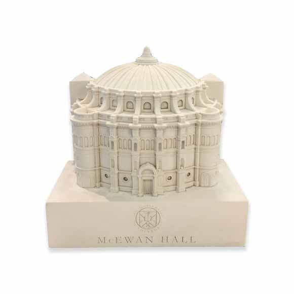 The McEwan hall model, as seen from the front