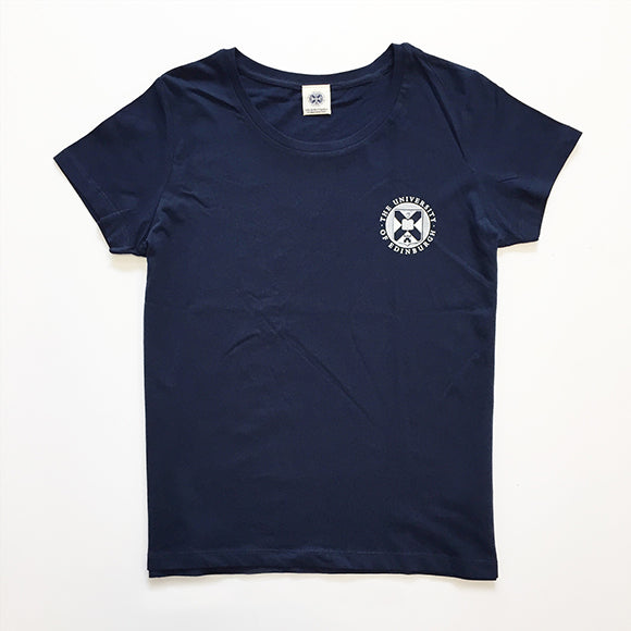 Fitted Small Crest T-Shirt in Navy