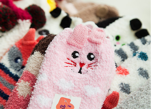 Fluffy Animal Christmas Socks