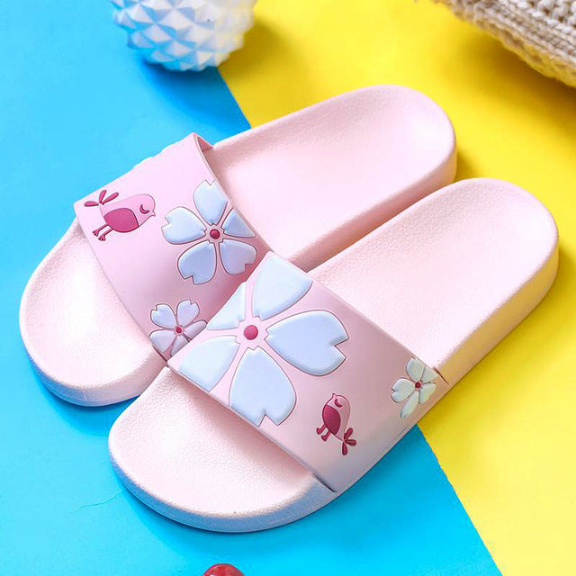 Pink Flower Slipper