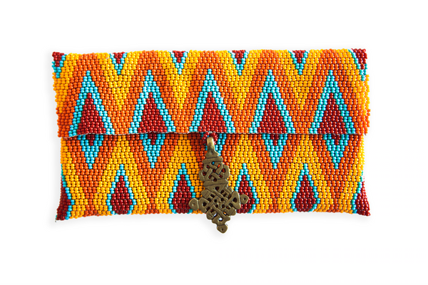 Maasai Beaded Cell Case - Orange - Ministry of Tomorrow