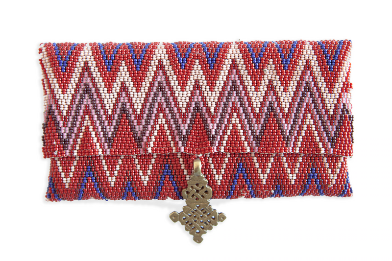 Maasai Beaded Cell Case - Red - Ministry of Tomorrow
