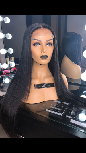 Noir Closure Wig | Straight
