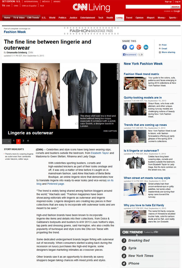 CNN - The fine line between lingerie and outerwear