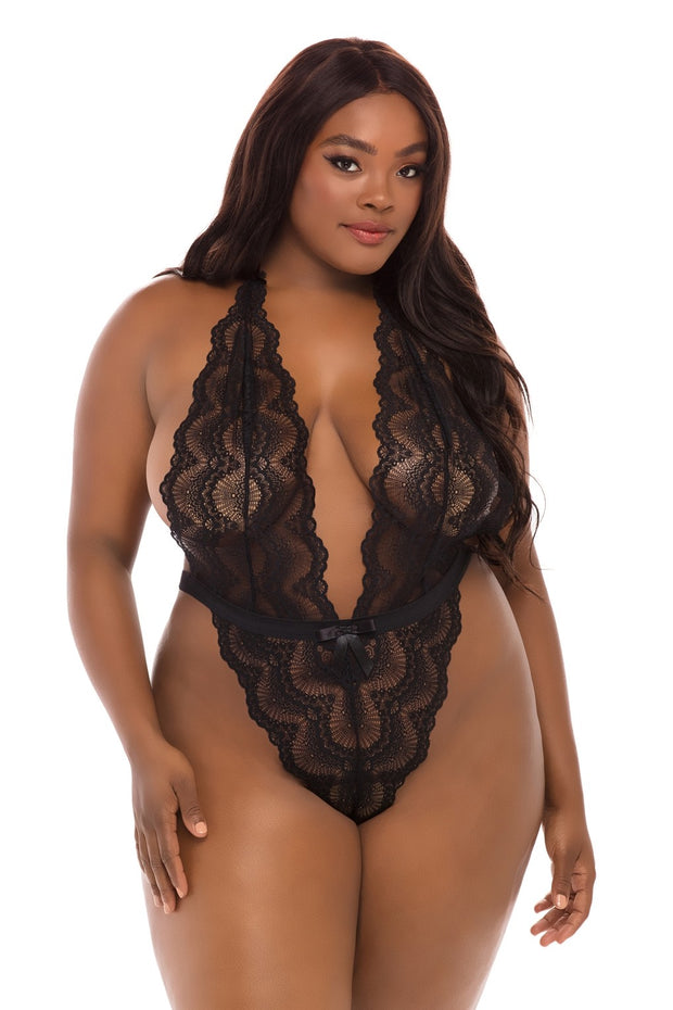 Alessa High Leg Lace Teddy