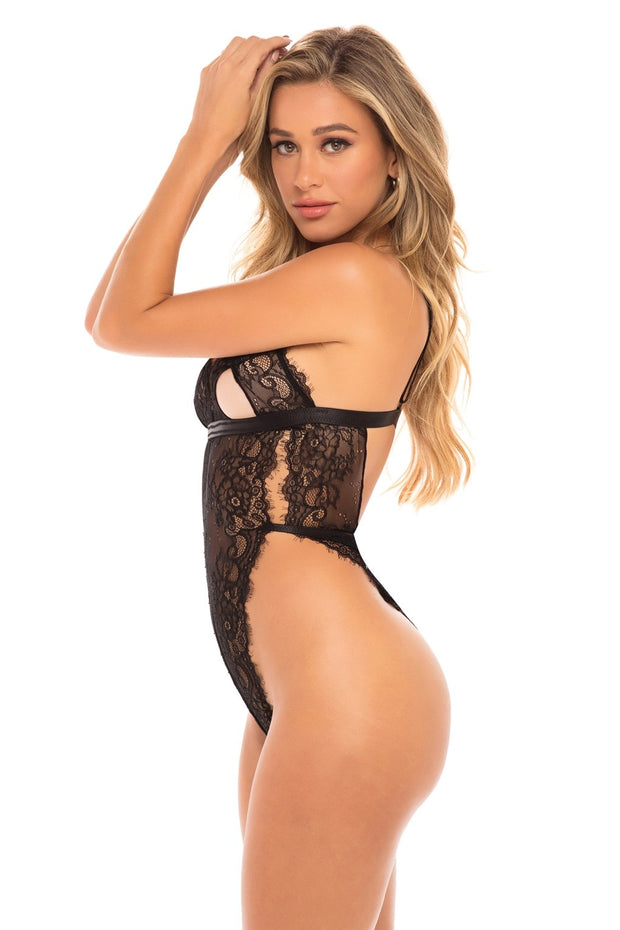 Zuria High Leg Lace Teddy