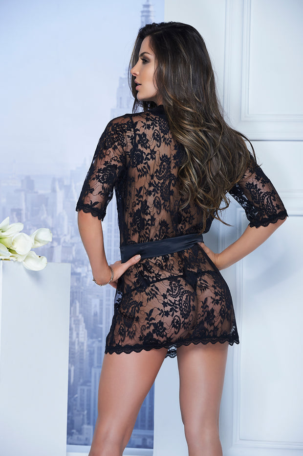 Adriana Lace Short Robe