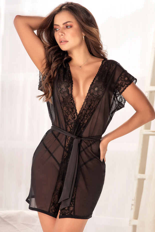 Sabrina Sheer Robe and Panty Set