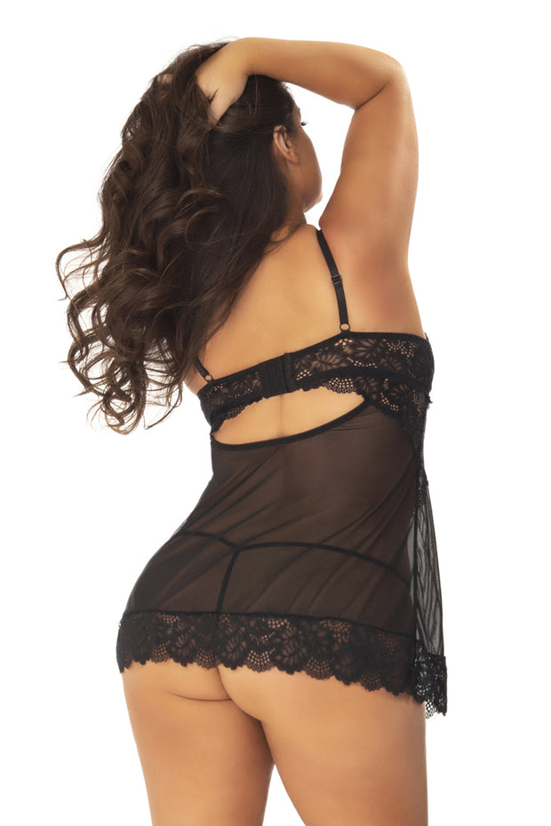 Page Unlined Lace Up Cup Chemise