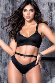 Midnight Edge Bra Set