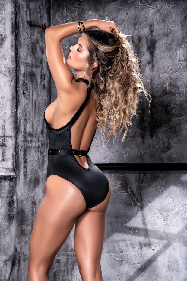 Midnight Edge Plunge Bodysuit