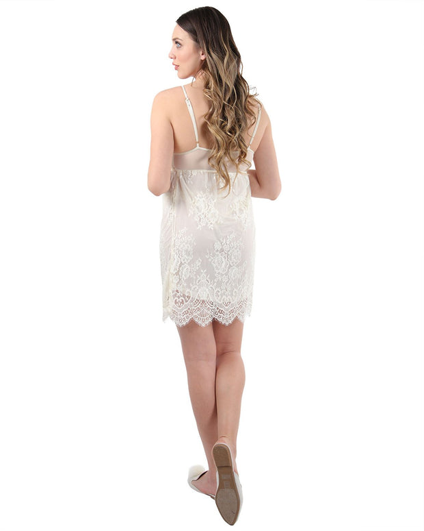Lined Lace Chemise by MeMoi