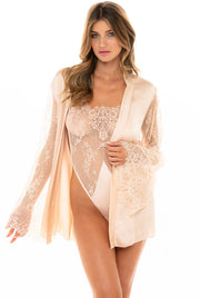 Elishia Satin Robe and Teddy Set