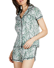 Palm Play Collar Pajama Set