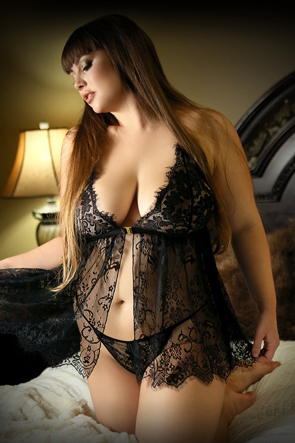Moonlight Serenade Babydoll & G-string Set
