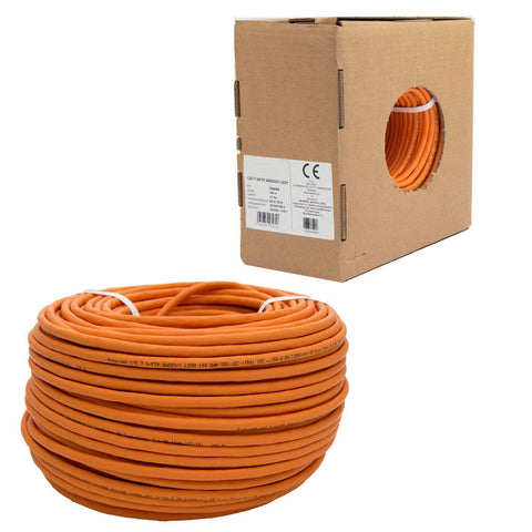 CAT.7 Netzwerkkabel LAN Kabel Installationskabel Verkabelung Datenkabel CAT7 CAT 7 Gigabit GB GHMT BauPVO Eca orange