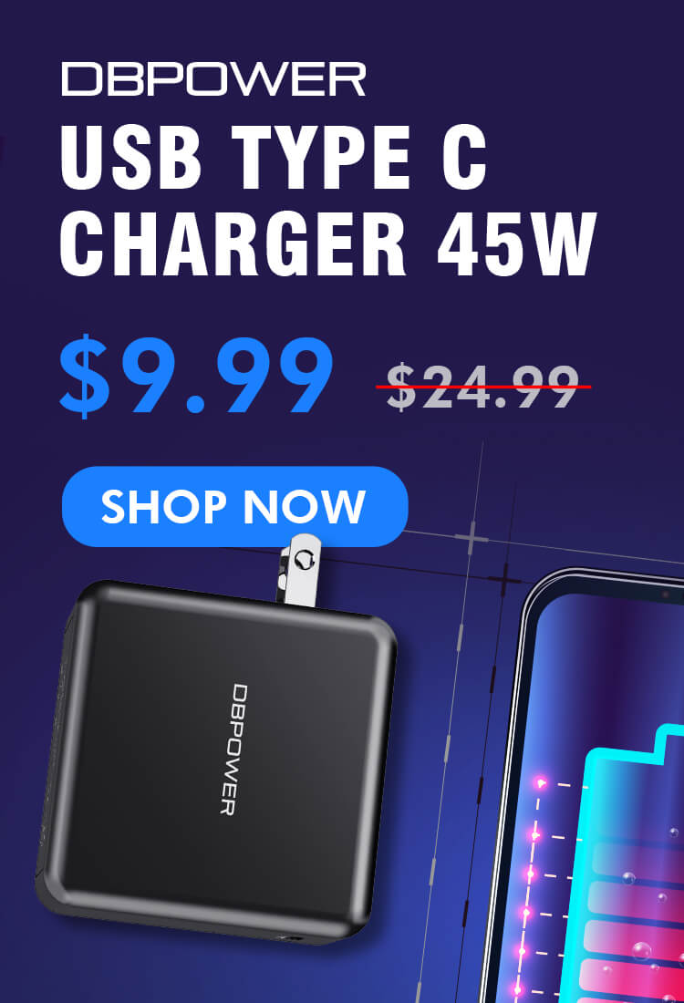 DBPOWER USB Type C Charger 45W - ValueLink Shop