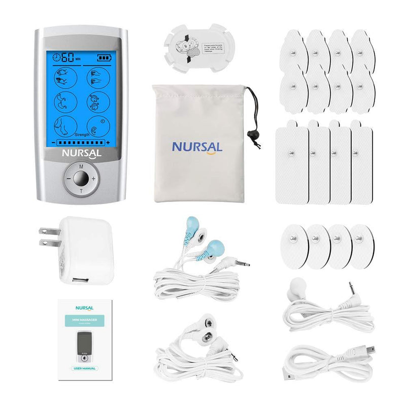 [16 Thicker Pads] Nuesal TENS Unit Muscle Stimulator (FDA Approved) - ValueLink Shop