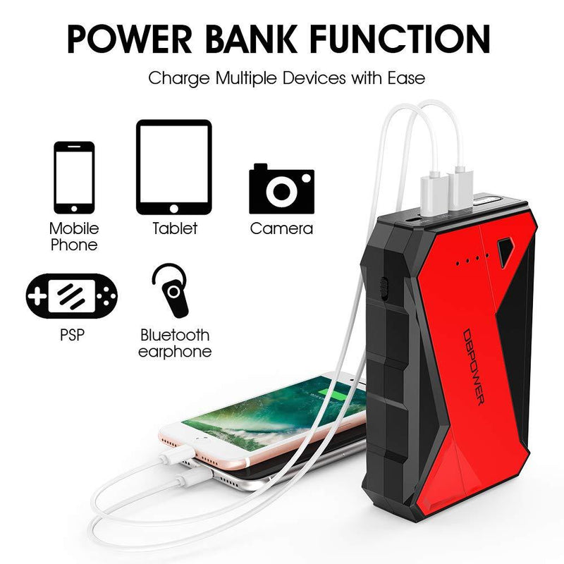 DBPOWER 1000A Portable Car Jump Starter (up to 7.0L Petrol, 5.5L Diesel Engine) - ValueLink Shop