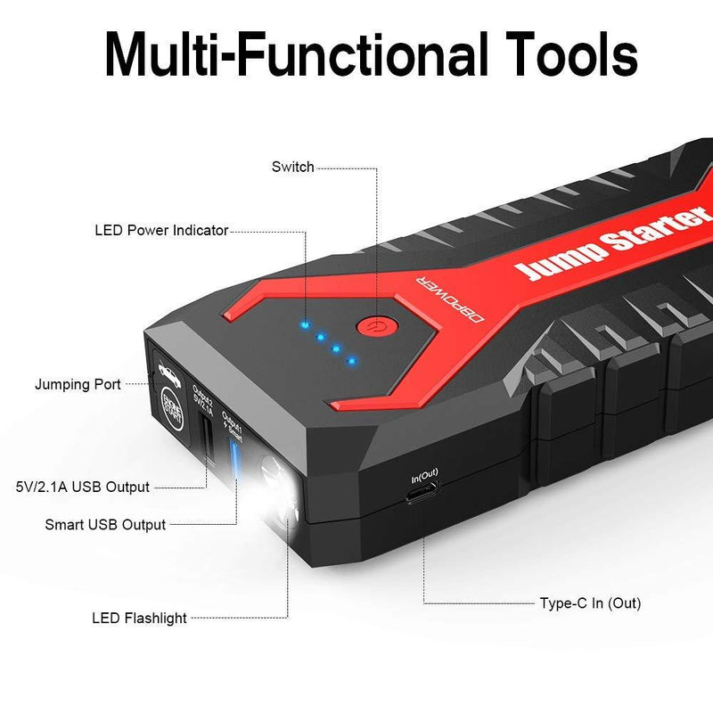 DBPOWER 2000A 20800mAh Portable Car Jump Starter, Battery Booster Pack