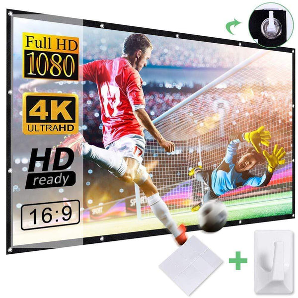 DBPOWER Projector Screen 100 inch - ValueLink Shop