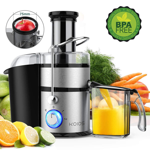 KOIOS Centrifugal Juicer Machines with Big Mouth 3 Inch Feed Chute