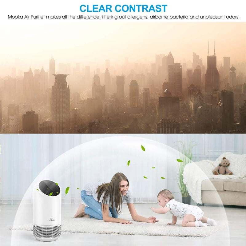 MOOKA True HEPA Air Purifierfor Home Up to 323ft² ,360° Deep Purification - ValueLink Shop