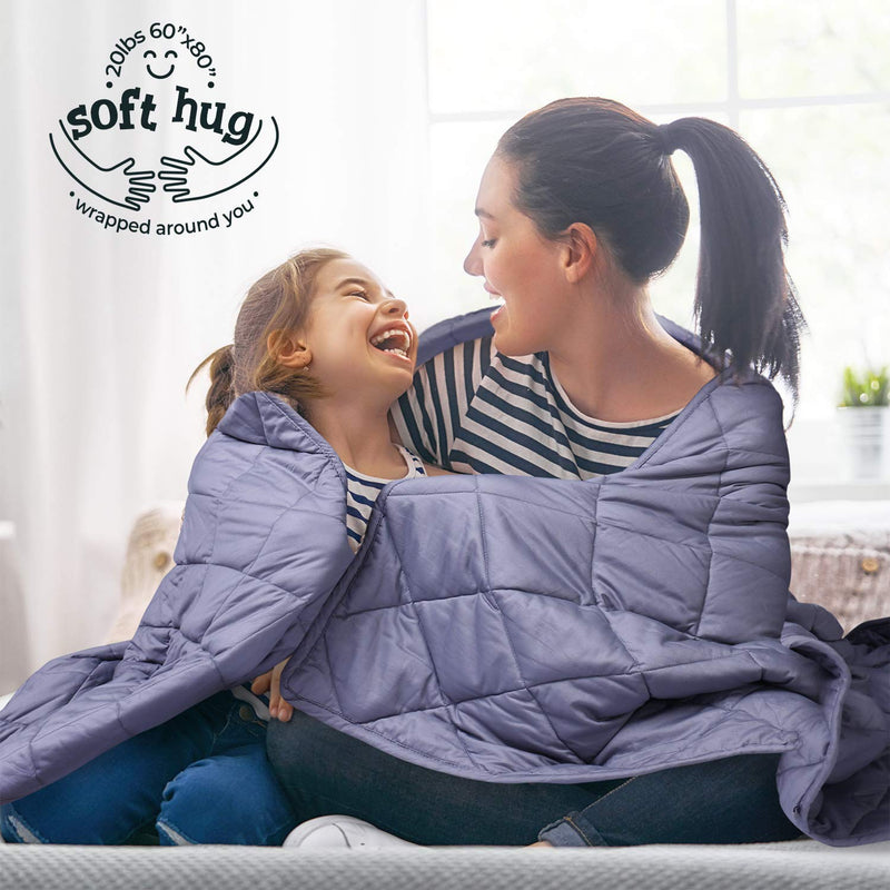 "MOOKA Weighted Blanket (15 lbs 48''x72'', 20lbs 60"" x 80"", Twin Size) for All Seasons - ValueLink Shop"