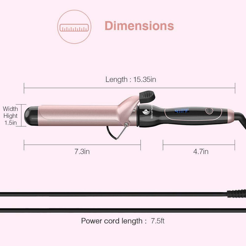Miropure Curling Iron  1 1/2-inch - ValueLink Shop