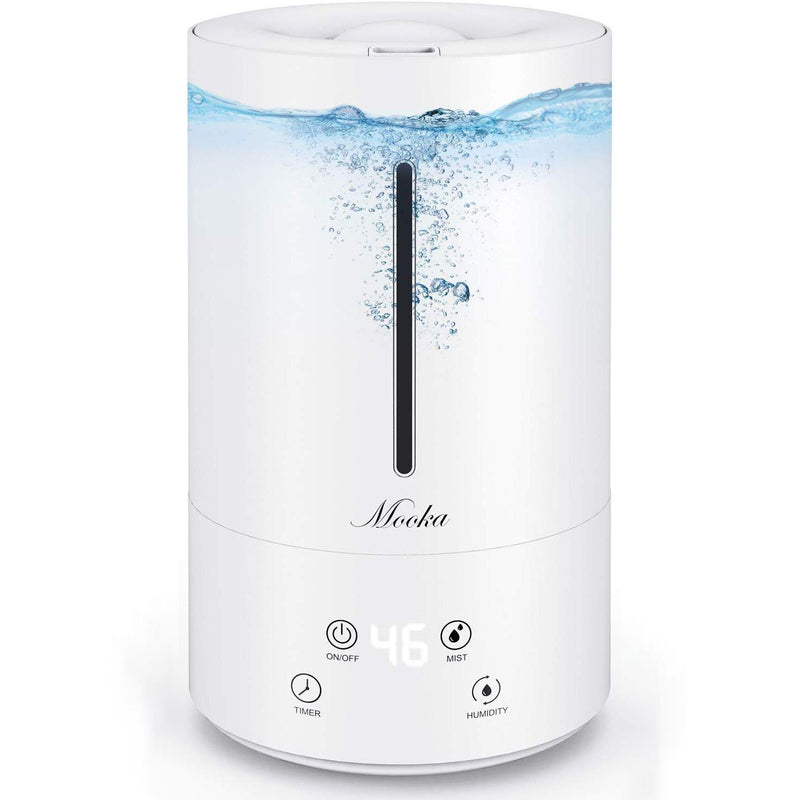 Mooka Ultrasonic Cool Mist Humidifier, 4.5L(1.2Gal) Top Fill Vaporizer Humidifiers {13-40 Hours, Auto Shut-Off (BPA-Free)} - ValueLink Shop