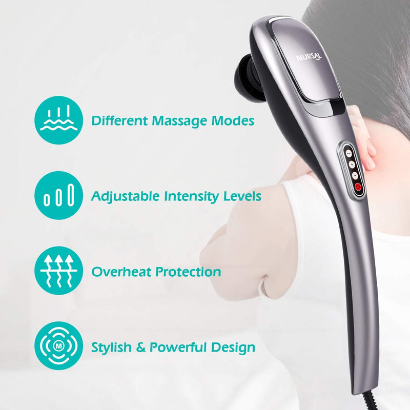 NURSAL Handheld Deep Percussion Massager with 5 Massage Modes - ValueLink Shop