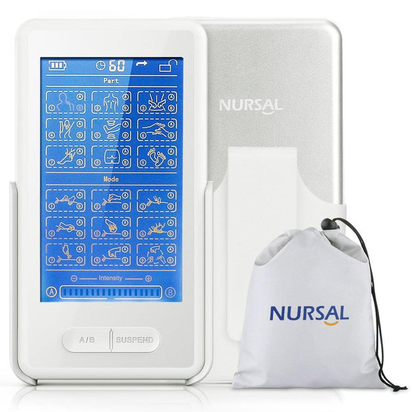 NURSAL Touch Screen TENS EMS Combination Unit with 8 Pads Therapy Machine - ValueLink Shop