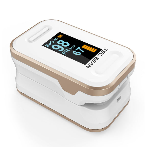 TEC.BEAN Updated Fingertip Pulse Oximeter Blood Oxygen Saturation Monitor (White) - ValueLink Shop