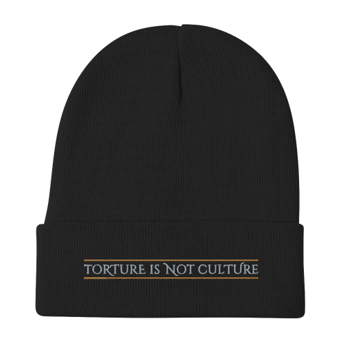 Embroidered Beanie Embroidered Beanie Aighard Black 1 3446515_4522 Embroidered Beanie