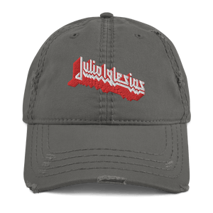 Embroidered Distressed Cap Embroidered Distressed Cap Aighard Charcoal Grey 2 4110086 Embroidered Distressed Cap