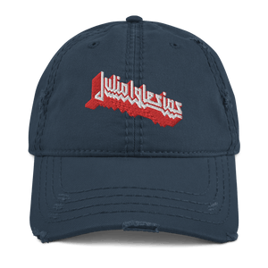 Embroidered Distressed Cap Embroidered Distressed Cap Aighard Navy 3 6230122 Embroidered Distressed Cap