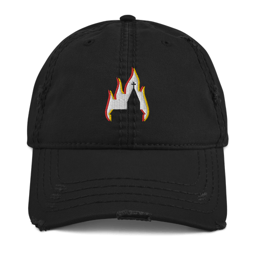 Church Arson | Distressed Cap Aighard Merchandise Webshop bergen black metal