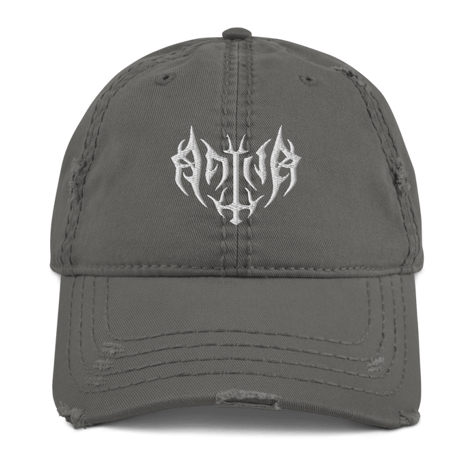 Embroidered Distressed Cap Aighard