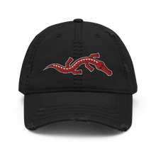 Load image into Gallery viewer, Embroidered Distressed Cap Embroidered Distressed Cap Hat Aighard Black 1 1153359_10990 Embroidered Distressed Cap