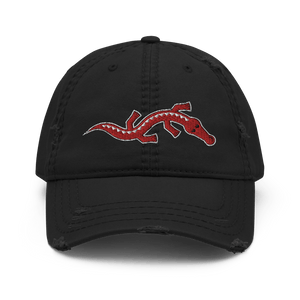 Embroidered Distressed Cap Embroidered Distressed Cap Hat Aighard Black 1 1153359_10990 Embroidered Distressed Cap