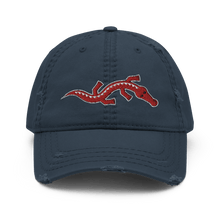 Load image into Gallery viewer, Embroidered Distressed Cap Embroidered Distressed Cap Hat Aighard Navy 2 1153359_10991 Embroidered Distressed Cap