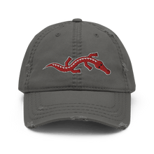 Load image into Gallery viewer, Embroidered Distressed Cap Embroidered Distressed Cap Hat Aighard Charcoal Grey 3 1153359_10992 Embroidered Distressed Cap