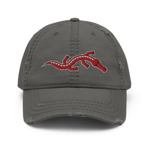 Embroidered Distressed Cap Embroidered Distressed Cap Hat Aighard Charcoal Grey 3 1153359_10992 Embroidered Distressed Cap