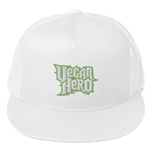 Load image into Gallery viewer, Embroidered Trucker Cap Embroidered Trucker Cap Aighard White 9 9051137 Embroidered Trucker Cap