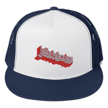 Load image into Gallery viewer, Embroidered Trucker Cap Embroidered Trucker Cap Aighard Navy/ White/ Navy 5 1991582 Embroidered Trucker Cap