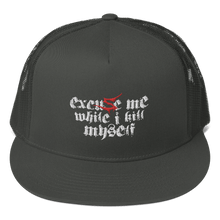 Load image into Gallery viewer, Embroidered Trucker Cap Embroidered Trucker Cap Aighard Charcoal 3 6422625 Embroidered Trucker Cap