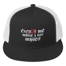 Load image into Gallery viewer, Embroidered Trucker Cap Embroidered Trucker Cap Aighard Black/ White 1 5698224 Embroidered Trucker Cap