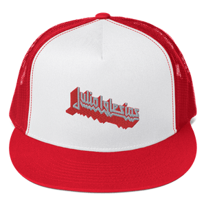 Embroidered Trucker Cap Embroidered Trucker Cap Aighard Red/ White/ Red 6 8983646 Embroidered Trucker Cap